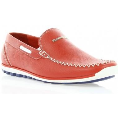 Купить Мокасины мужские красные, кожа (1550X черв. Фл) Romastyle по лучшим ценам