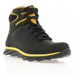 Ботинки мужские черные/желтые, кожа (1600-17 чн. Шк_жовт (шерсть)) Roma style