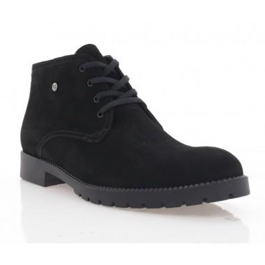 Ботинки мужские черные, замша (1605-20 чн.Зш (шерсть)) Roma style