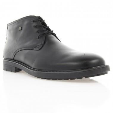 Купить Ботинки мужские черные, кожа (1605 чн. Шк (шерсть)) Roma style по лучшим ценам