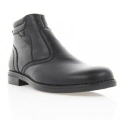 Ботинки мужские черные, кожа (1609 чн. Шк (шерсть)) Roma style