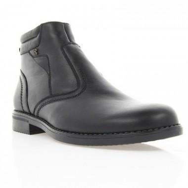Купить Ботинки мужские черные, кожа (1609 чн. Шк (шерсть)) Romastyle по лучшим ценам