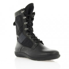 Ботинки мужские черные, кожа (1621_Берци/5434 чн. Шк) Roma style