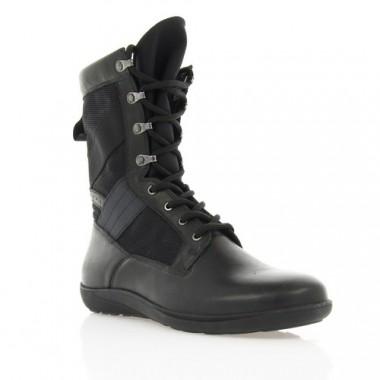 Купить Ботинки мужские черные, кожа (1621_Берци/5434 чн. Шк) Roma style по лучшим ценам