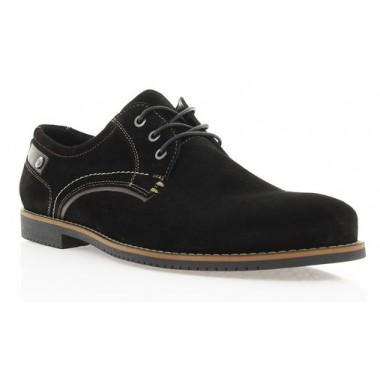 Купити Туфлі чоловічі чорні, замш (1700/17 чн. Зш) Roma style за найкращими цінами