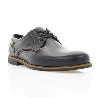 Купити Туфлі чоловічі чорні, шкіра (1700/17 чн. Фл) Roma style за найкращими цінами