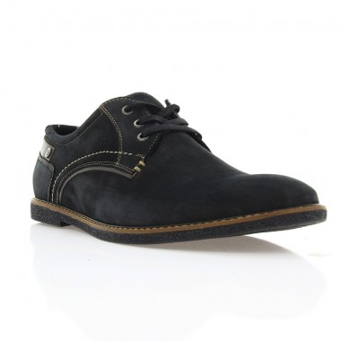 Купить Туфли мужские черные, нубук (1700/17 чн. Нб) Roma style по лучшим ценам