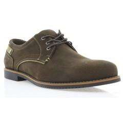 Туфли мужские коричневые, нубук (1700/17 кор. Нб) Roma style