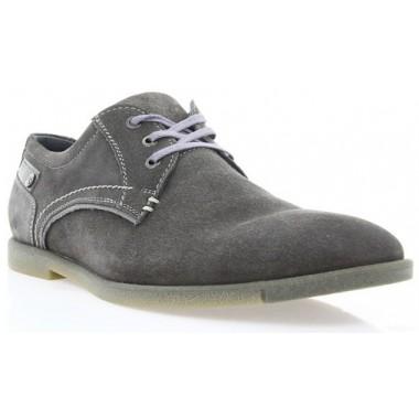 Купити Туфлі чоловічі сірі, замш (1700/17 сір. Зш) Roma style за найкращими цінами