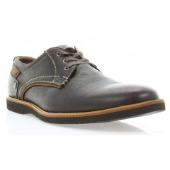 Туфли мужские коричневые, кожа (1700_ЕВА кор. Шк) Roma style