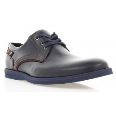 Купити Туфлі чоловічі сині, шкіра (1700_ЕВА сн. Шк_борд р) Roma style за найкращими цінами