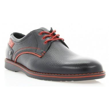 Купить Туфли мужские черные, кожа (1700 чн. Фл+черв.р ) Roma style по лучшим ценам