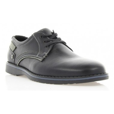 Купить Туфли мужские черные, кожа (1700 чн. Шк ) Roma style по лучшим ценам