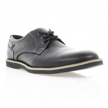 Купити Туфлі чоловічі чорні, шкіра (1700_ЕВА чн. Фл_сір р) Roma style за найкращими цінами
