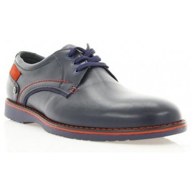 Купить Туфли мужские синие, кожа (1700 сн. Шк+черв.р) Roma style по лучшим ценам
