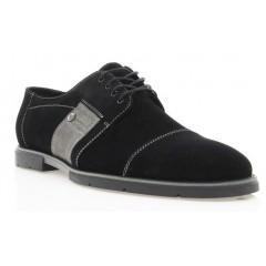 Туфли мужские черные , замша ( 1702 чн. Зш ) Roma style
