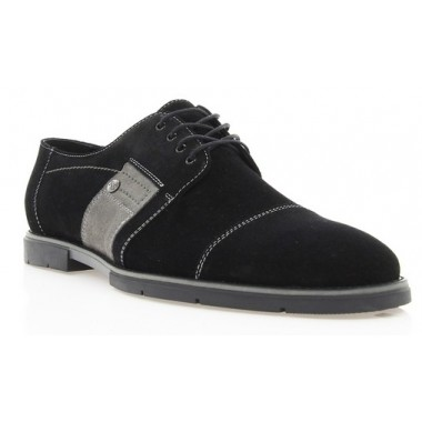 Купити Туфлі чоловічі чорні, замш (1702 чн. Зш)  Roma style за найкращими цінами