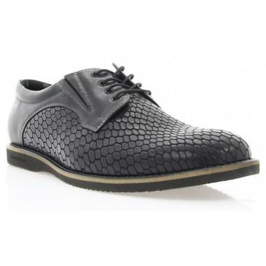 Купить Туфли мужские черные, кожа (1707_ЕВА чн. Шк) Romastyle по лучшим ценам