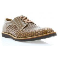 Туфли мужские рыжие, кожа (1707_ЕВА св.кор. Шк) Roma style