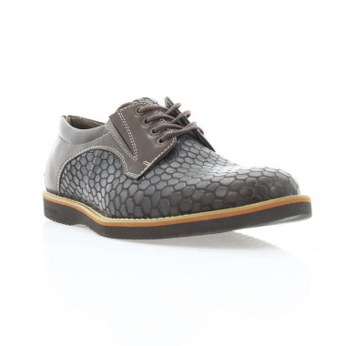 Купити Туфлі чоловічі коричневі, шкіра (1707_ЕВА кор. Шк) Roma style за найкращими цінами