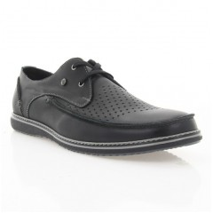 Туфли мужские черные, кожа (1712 чн. Шк) Romastyle