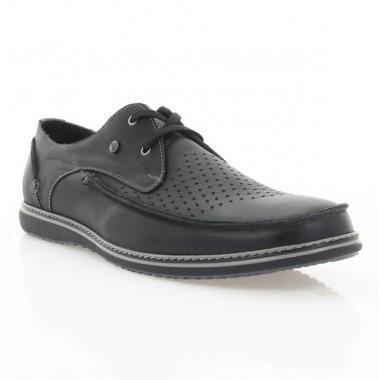 Купить Туфли мужские черные, кожа (1712 чн. Шк) Roma style по лучшим ценам