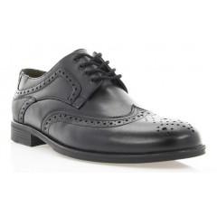 Туфли мужские черные, кожа (1715/17 чн. Шк) Roma style