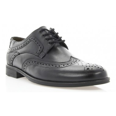 Купить Туфли мужские черные, кожа (1715/17 чн. Шк) Roma style по лучшим ценам