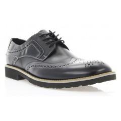 Туфли мужские черные, кожа (1715_ЕВА чн. Шк_сір р) Roma style