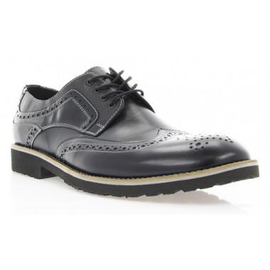 Купити Туфлі чоловічі чорні, шкіра (1715_ЕВА чн. Шк_сір р) Roma style за найкращими цінами