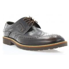 Туфли мужские коричневые, кожа (1715_ЕВА кор. Шк) Roma style