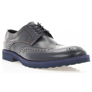 Купити Туфлі чоловічі сині, шкіра (1715_ЕВА сн. Шк) Roma style за найкращими цінами