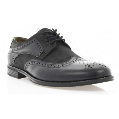 Купити Туфлі чоловічі чорні, шкіра/нубук (1715 чн. Шк+Нб) Roma style за найкращими цінами
