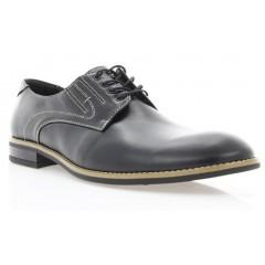 Туфли мужские черные, кожа (1716/17 чн. Шк_бж р) Roma style