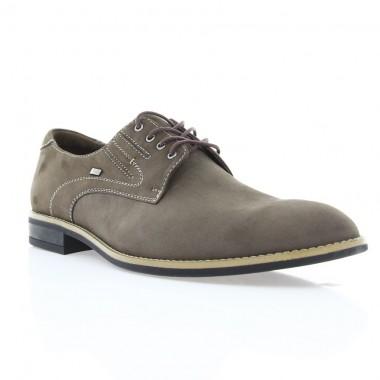 Купить Туфли мужские коричневые, нубук ( 1716 кор. Нб + бж.р ) Roma style по лучшим ценам