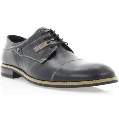 Туфли мужские черные, кожа (1717/17 чн. Шк_бж р) Roma style