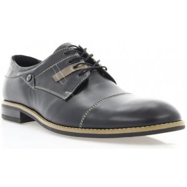Купить Туфли мужские черные, кожа (1717/17 чн. Шк_бж р) Roma style по лучшим ценам