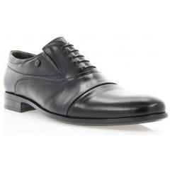 Туфли мужские черные, кожа (1718/17 чн. Шк) Roma style