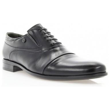 Купить Туфли мужские черные, кожа (1718/17 чн. Шк) Roma style по лучшим ценам
