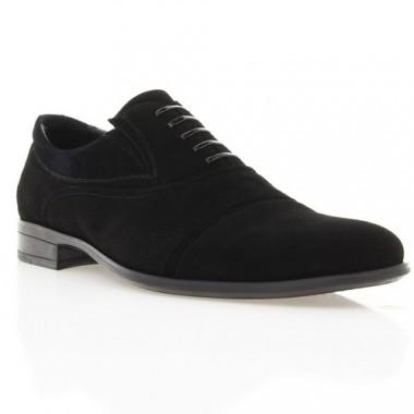 Купить Туфли мужские черные, велюр (1718/17 чн. Вл) Roma style по лучшим ценам