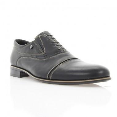 Купити Туфлі чоловічі чорні, шкіра (1718 чн. Шк+бж. р) Romastyle за найкращими цінами