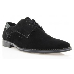 Туфли мужские черные, замша (1721 чн. Зш) Roma style