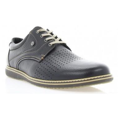 Купити Туфлі чоловічі чорні, шкіра (1731 чн. Фл+бж.р) Romastyle за найкращими цінами