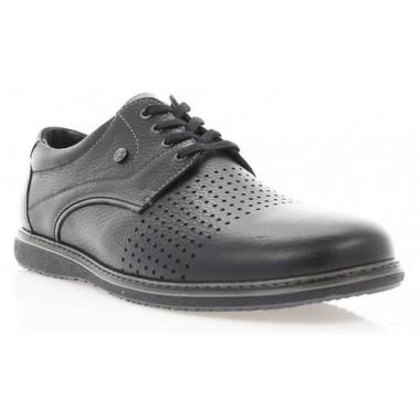 Купить Туфли мужские черные, кожа (1731 чн. Фл+сір.р) Roma style по лучшим ценам