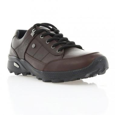 Купить Кроссовки мужские коричневые, кожа (1801Е кор. Шк) Roma style по лучшим ценам