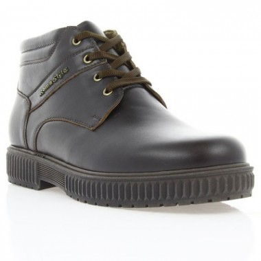 Купить Ботинки мужские коричневые, кожа (1803 кор. Шк (шерсть)) Roma style по лучшим ценам