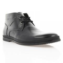 Ботинки мужские черные, кожа (1804 чн. Шк (байка)) Roma style