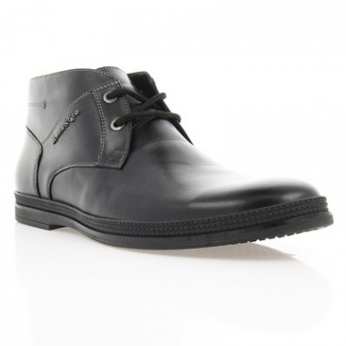 Купить Ботинки мужские черные, кожа (1804 чн. Шк (байка)) Roma style по лучшим ценам
