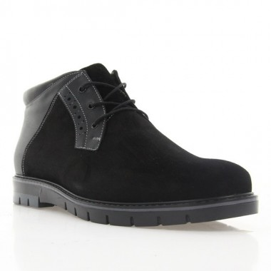 Купить Ботинки мужские черные, замша/кожа (1809-18 чн. Зш (шерсть)) Roma style по лучшим ценам