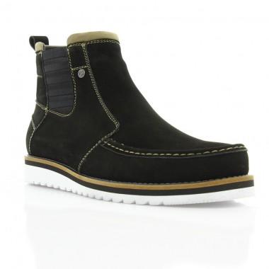 Купить Ботинки мужские черные, нубук (1811_ЕВА чн. Нб_біла П (шер)) Roma style по лучшим ценам
